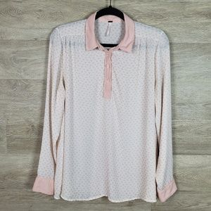 Free People Horse Print Blouse Size M